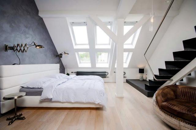 Design Ideen für eine schöne Dachschräge Schlafzimmer - de-haus