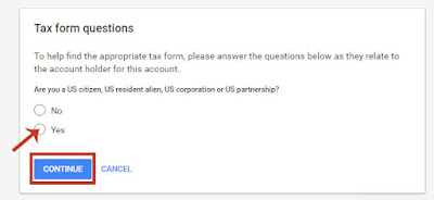 Cara Submit Tax Akun Google Adsense USA Terbaru