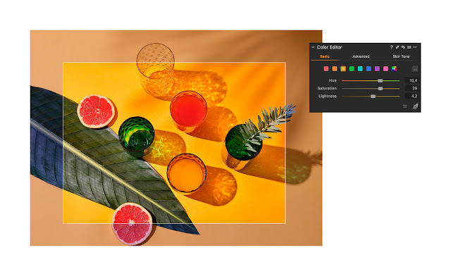 Intuitive basic colour adjustment in Capture One