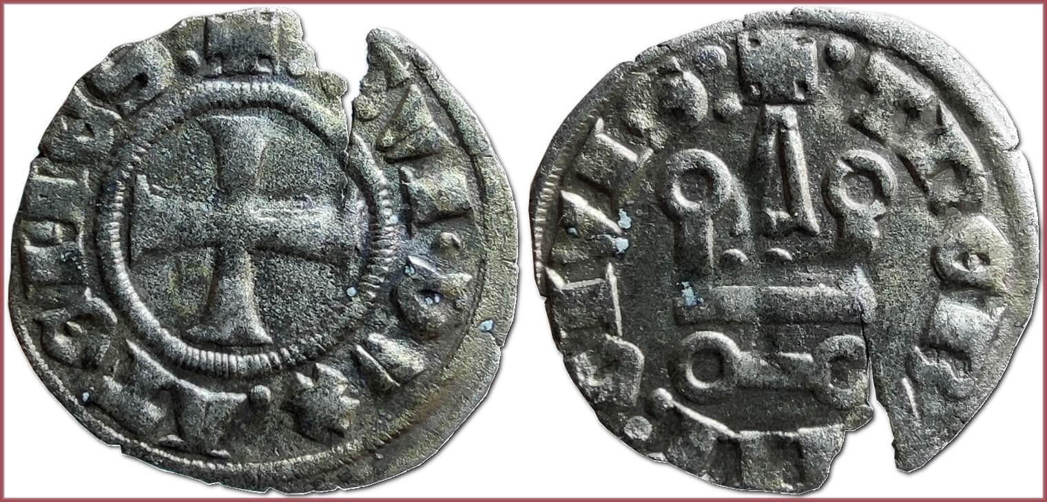 Denier tournois, 1294-1308: Duchy of Athens