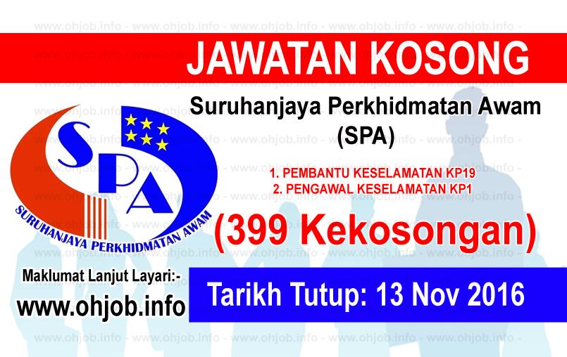 Jawatan Kerja Kosong Suruhanjaya Perkhidmatan Awam (SPA) logo www.ohjob.info november 2016