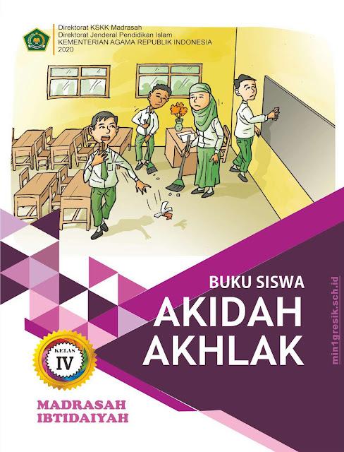buku mata pelajaran aqidah akhlak kelas 3 mi terbitan KSKK Madrasah Kemenag RI