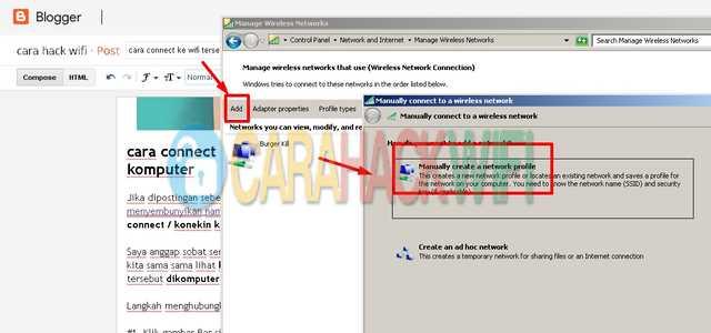 Klik add lalu klik manually create