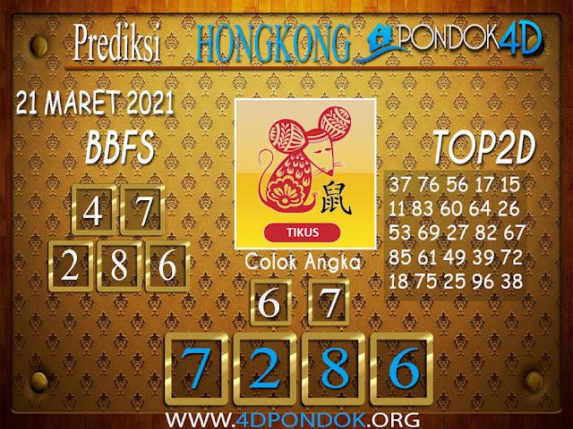 Prediksi Togel HONGKONG PONDOK4D 21 MARET 2021