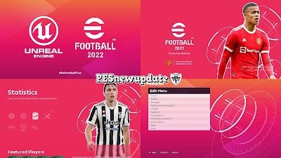 PES 2021 Menu Mod eFootball 2022 CONCEPT V2 by PESNewupdate