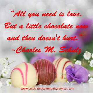 Image: All you need is love but a little chocolate now and then doesn't hurt