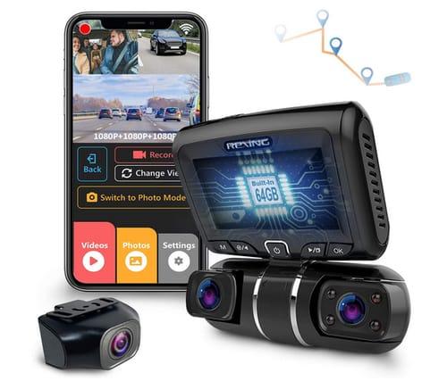 REXING S1 Pro Enhanced 3-Channel Dash Cam