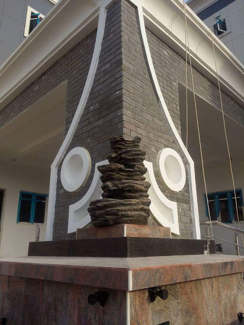 Eco bricks in black color done in Nigeria