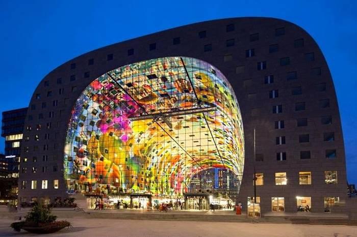 The Markthal - the biggest indoor market, Rotterdam