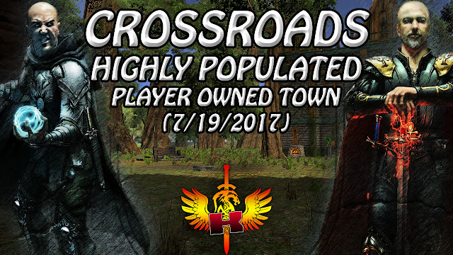 Crossroads, Highly Populated Player Owned Town (7/19/2017)