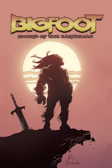 Bigfoot Sword of the Earthman barbarian comic book cover