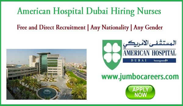 Latest Dubai jobs for Indians, Hospital job vacancies in Dubai,