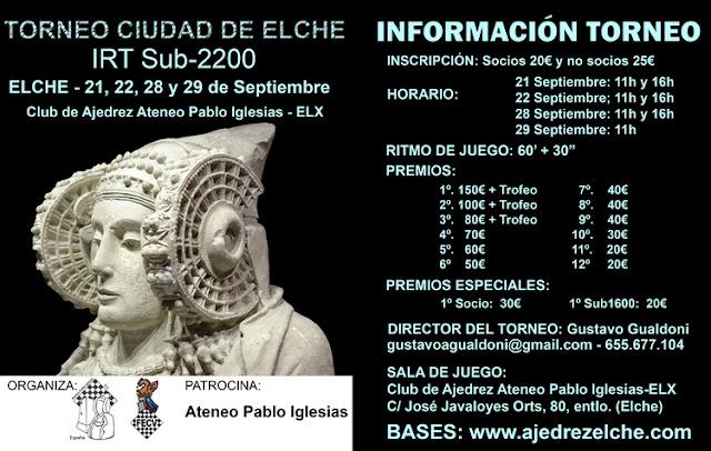 21-29 septiembre, IRT Sub-2200 Ciudad de Elche