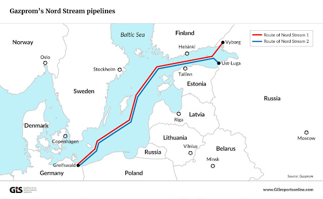 Gazprom's Nord Stream Pipelines - GISreportsonline.com