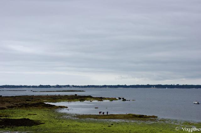 Parte della costa di Concarneau con la bassa marea
