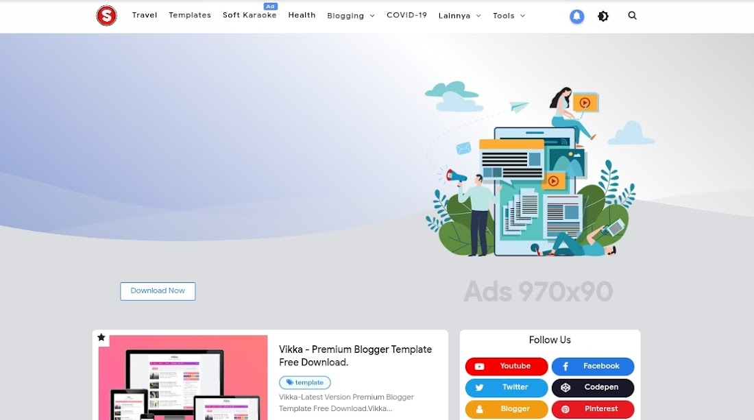 Hey Bina-Insaf Bro-Premium Blogger Template Free Download.