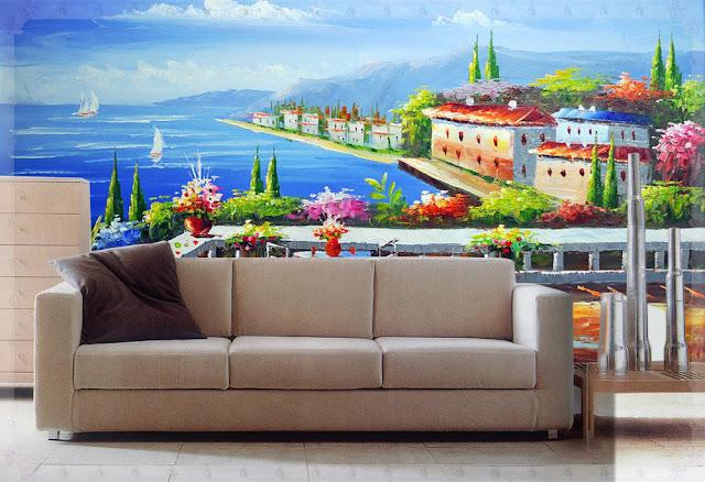 Lukisan Dinding Ruang Tamu
