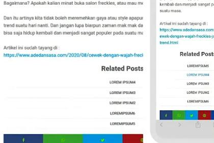 Cara memasang related post simpel ke dalam template Essential blogger