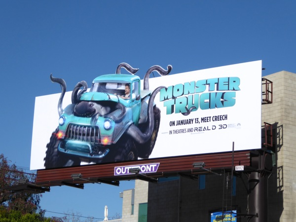 Monster Trucks movie billboard