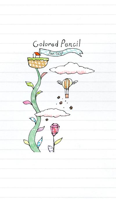 Colored pencil fantasy