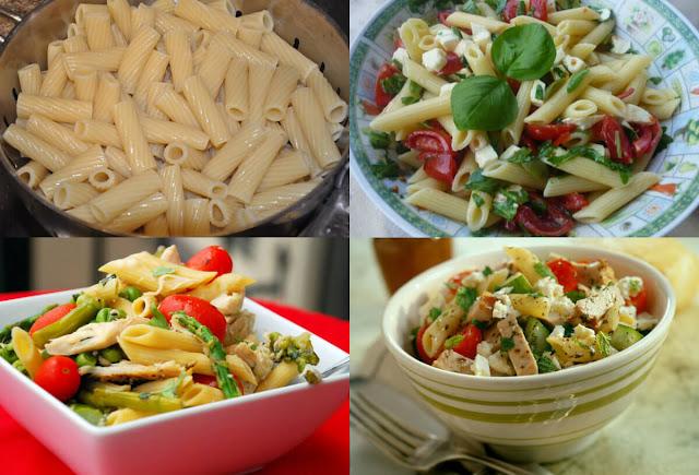 طريقة سهلة وسريعة لعمل سلطة المعكرونة بالدجاج مقدمة من موقع عالم الطبخ والجمال!