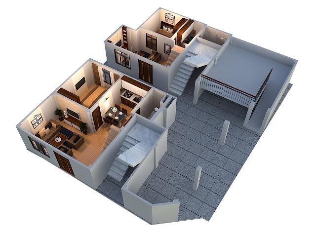 Phối cảnh tầng 1 tòa chung cư mini Minh Đại Lộc 3