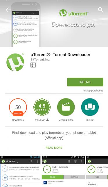 Cara Menggunakan uTorrent di Android