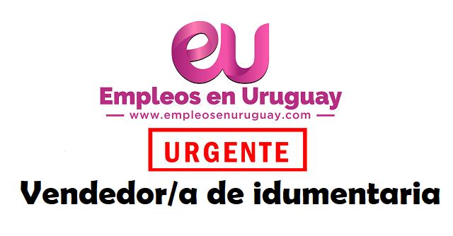 URGENTE Vendedor/a de idumentaria
