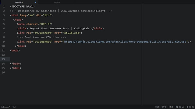 use iocns in HTML