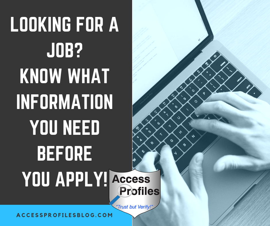 Access Profiles Inc Looking For A Job Know What