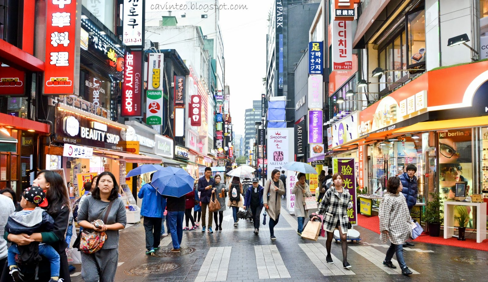Image result for Myeong-dong korea famous street
