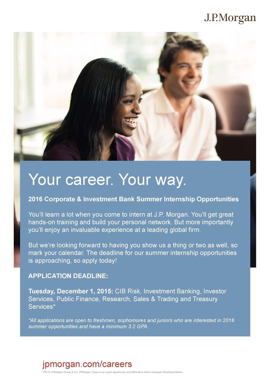 ECON Undergraduate Blog: 2016 Summer Internship Opportunities with