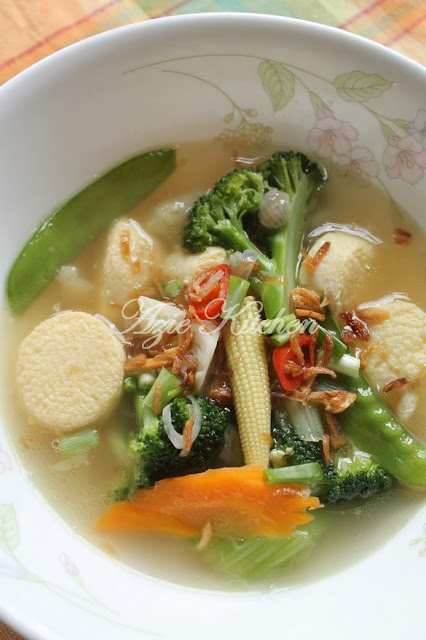 Sup Sayur Campur Tauhu Telur Yang Sedap