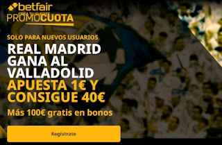 betfair supercuota Real Madrid v Valladolid 30-9-2020