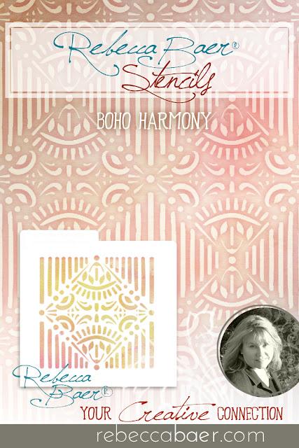 BoHo Harmony Stencil | RebeccaBaer.com