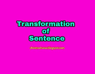 Transformation of sentence rules