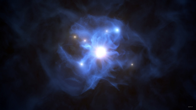 Web of the Giant: Six galaxies around the Astronomers Monster Quasar