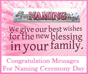 Congratulation Messages Congratulation Messages on Naming Ceremony