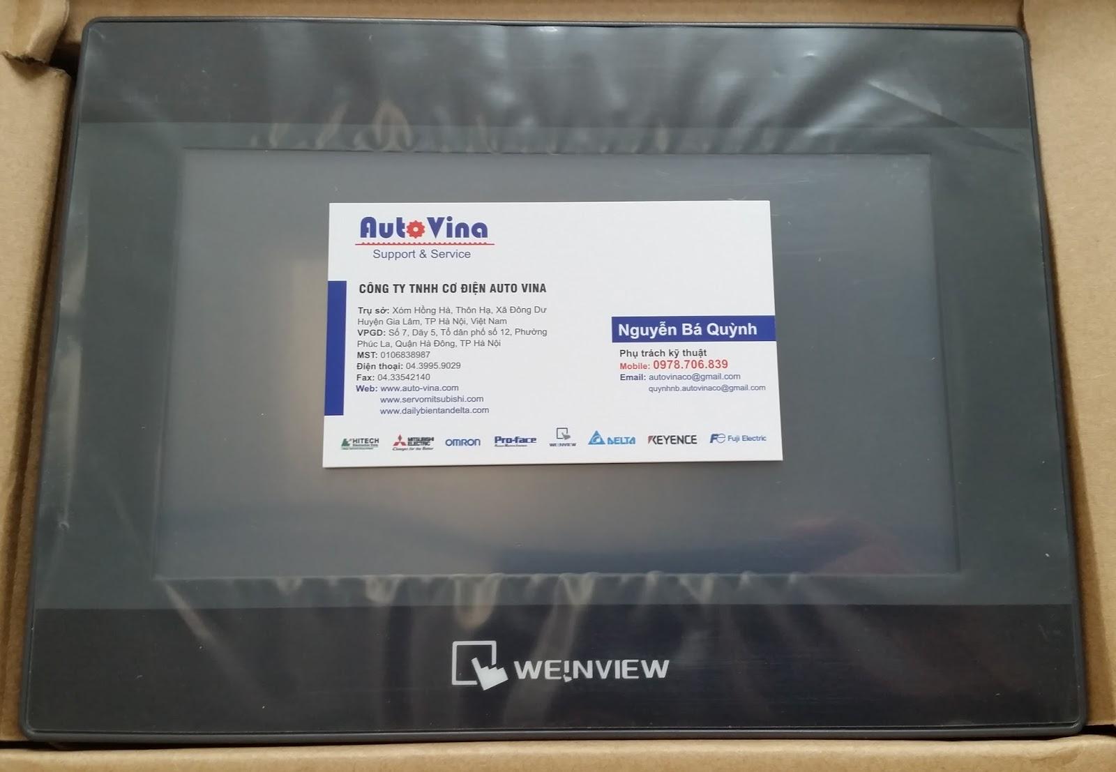 Tổng đại lý phân phối, bán màn hình cảm ứng HMI Weinview Weintek 7 inch TK6070iP. Sửa chữa thay thế tấm cảm ứng, thay thế LCD HMI Weinview.