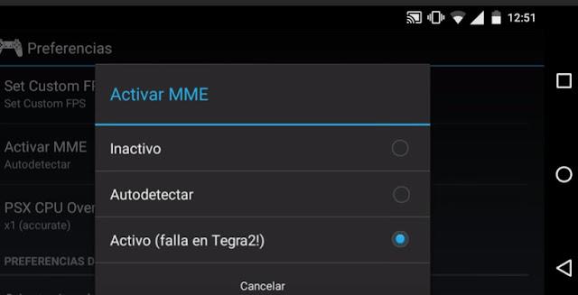 Activar MME