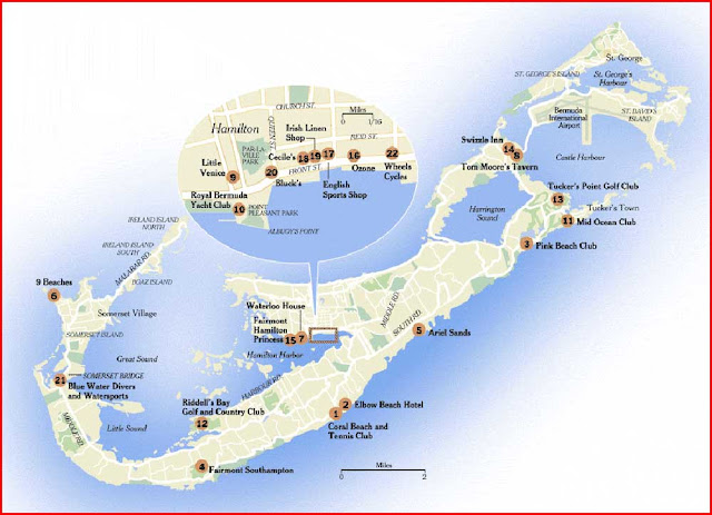 Gambar Peta Bermuda versi New York