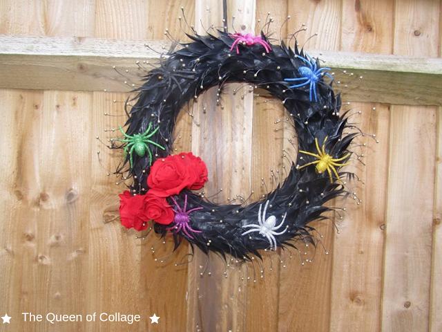 An Upcycled Halloween Wreath