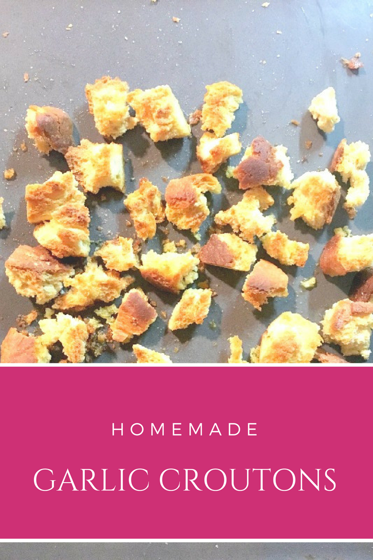 Homemade garlic croutons - Ioanna's Notebook