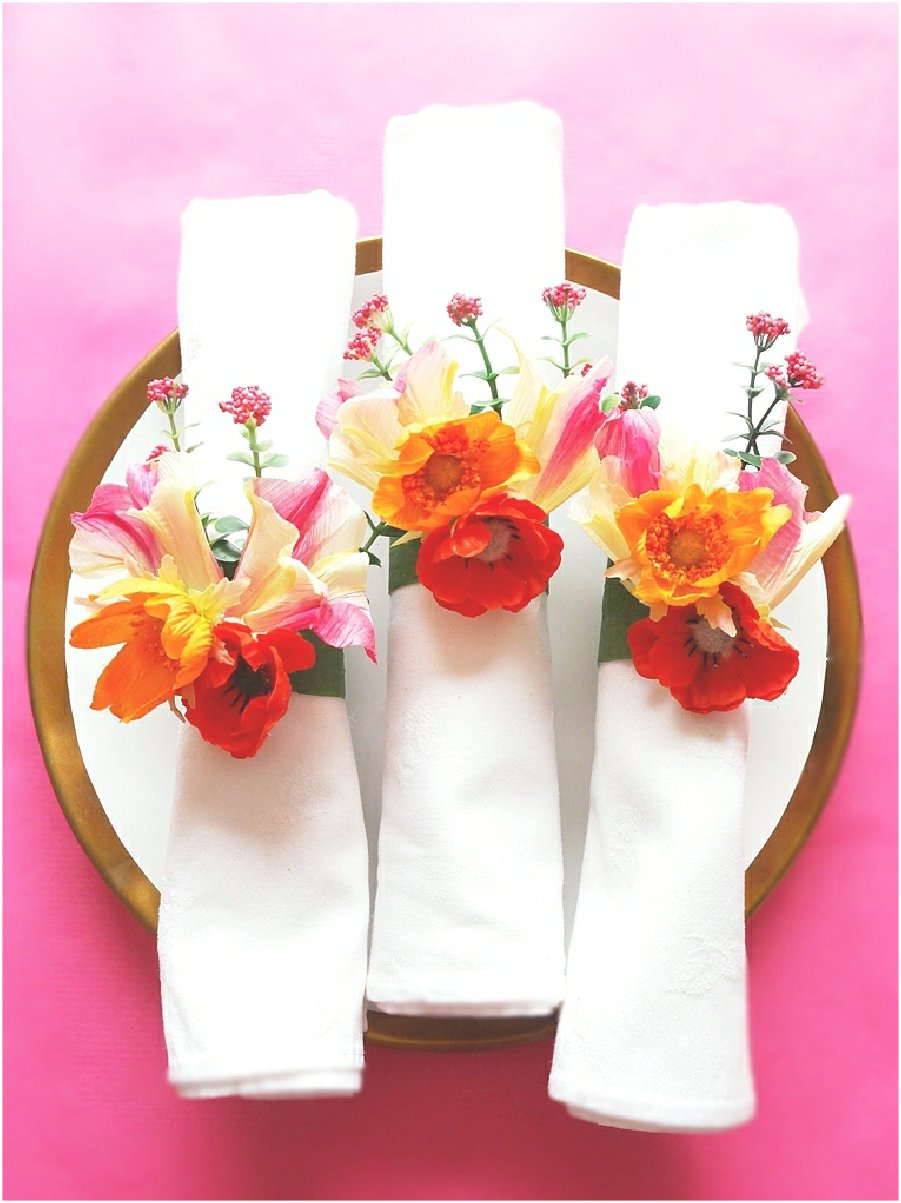 DIY Ronds de Serviette Floraux