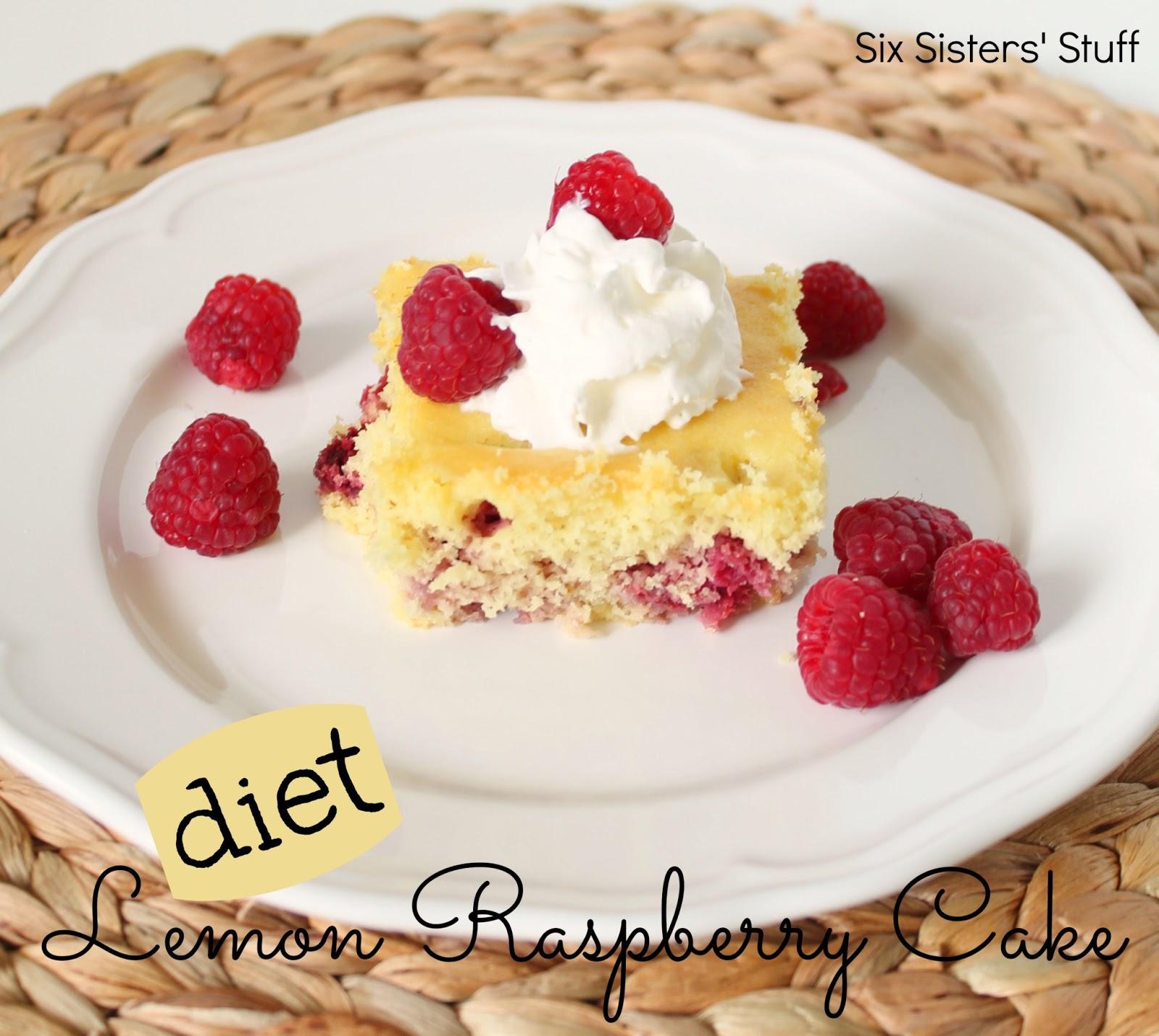 Diet Lemon Raspberry Cake Recipe | Six Sisters' Stuff