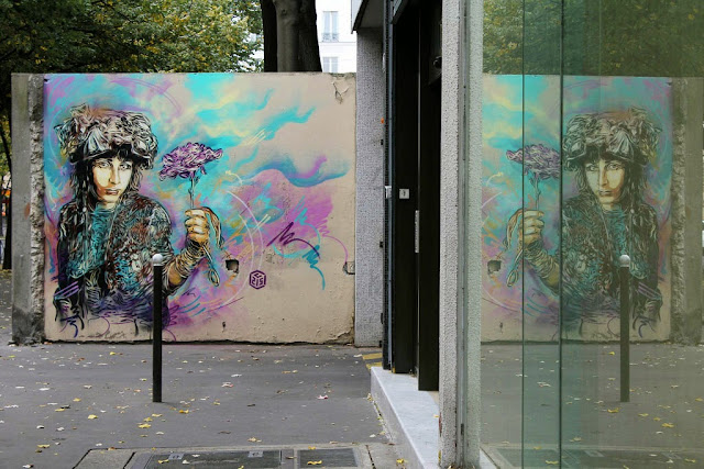 Two new Street Art Pieces by French Stencil Artist C215 On the streets of Paris, France. 4