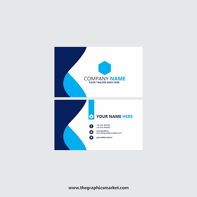 Blue Business Card Design Template | Free Download