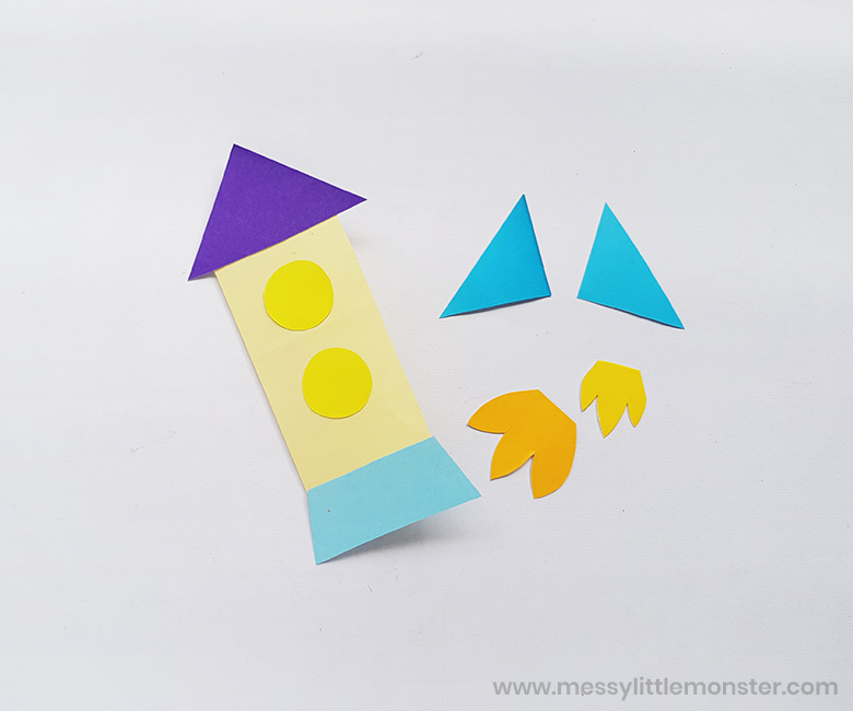 Rocket craft for toddlers and preschoolers