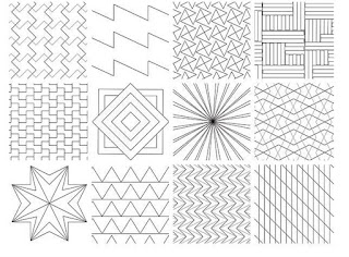 QUILTING DESIGNS-STRAIGHT LINE-RULER QUILTING-QUILTING IDEAS