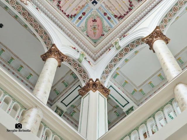 Palacete Basílio Jafet (detalhes do átrio e teto)